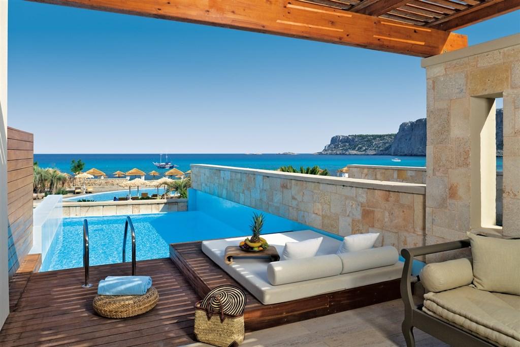 Řecko, Rhodos, Lindos, Hotel Aqua Grand Exclusive Deluxe Resort